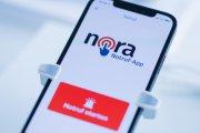 Smartphone mit Nora App