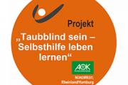 AOK Emblem: Taubblind sein - Selbsthilfe leben lernen