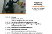 Bild des Programms der Fachtagung