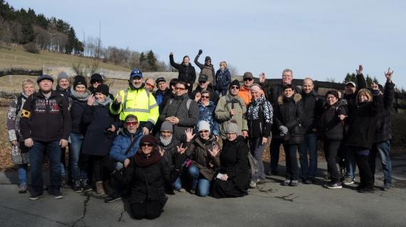 Gruppenfoto des Landesverbandes der Taubblinden in Winterberg