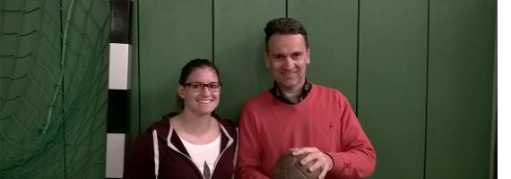 Die sportlichen Leiter Georg Cloerkes und Irene London
